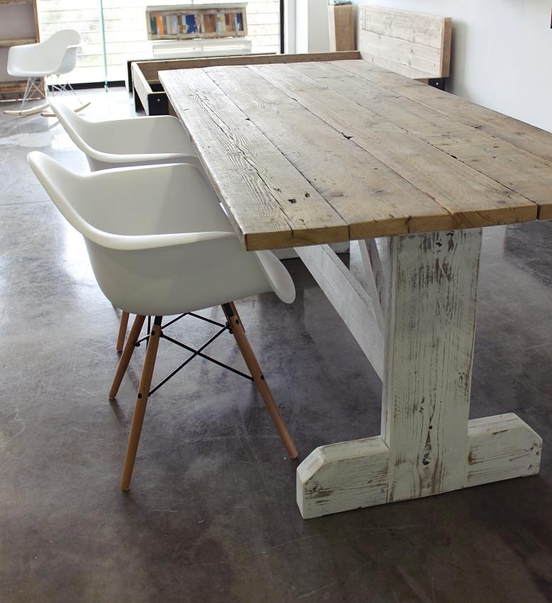 Mesa wood white - Mesa blanca y madera ...